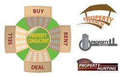 Logo della proprietà Fotografia Stock Libera da Diritti