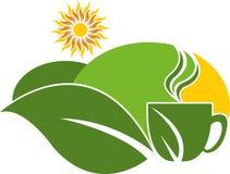 Logo della proprietà del tè Immagini Stock Libere da Diritti