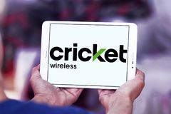 Logo della radio del cricket Fotografia Stock Libera da Diritti