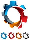 Logo della ruota dentata Fotografia Stock