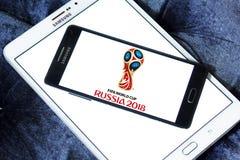 Logo 2018 della Russia della coppa del Mondo della FIFA Immagini Stock Libere da Diritti