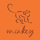 logo 240 della scimmia Fotografia Stock