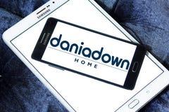 Logo della società della casa di Daniadown Fotografia Stock