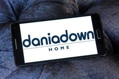 Logo della società della casa di Daniadown Fotografia Stock Libera da Diritti