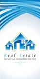 Logo della società con costruzione Fotografia Stock Libera da Diritti