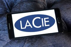 Logo della società del hardware di LaCie Fotografia Stock