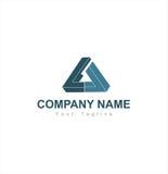 Logo della società del triangolo Fotografie Stock Libere da Diritti