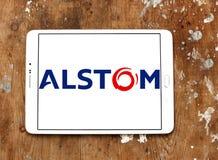 Logo della società dell'Alstom Fotografia Stock