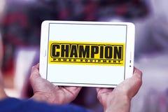 Logo della società dell'attrezzatura di potere del campione Fotografia Stock