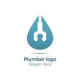 Logo della società dell'impianto idraulico Fotografie Stock