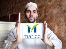 Logo della società delle merci di Marico Fotografia Stock