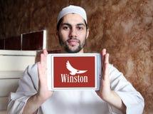 Logo della società delle sigarette di Winston Immagine Stock