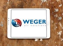 Logo della società delle soluzioni dell'aria di Weger Fotografia Stock