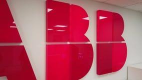 Logo della società di ABB nell'ufficio archivi video