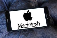 Logo della società di Apple Macintosh fotografie stock