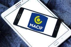Logo della società di assicurazioni di Macif Fotografie Stock Libere da Diritti