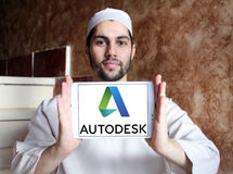 Logo della società di Autodesk Immagine Stock