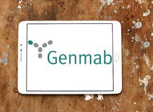 Logo della società di biotecnologia di Genmab immagine stock libera da diritti