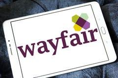 Logo della società di commercio elettronico di Wayfair Immagine Stock Libera da Diritti