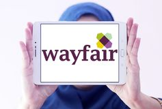 Logo della società di commercio elettronico di Wayfair Fotografia Stock Libera da Diritti
