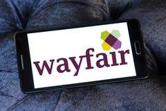 Logo della società di commercio elettronico di Wayfair Immagine Stock