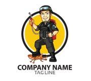 Logo della società di controllo dei parassiti Fotografia Stock Libera da Diritti