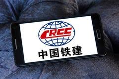 Logo della società di costruzioni di Crcc Fotografie Stock