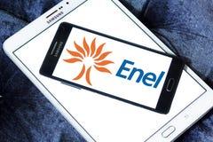 Logo della società di energia dell'Enel Fotografia Stock Libera da Diritti