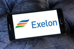 Logo della società di energia di Exelon Immagine Stock Libera da Diritti