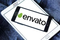 Logo della società di Envato Immagine Stock