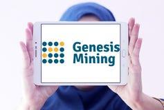 Logo della società di estrazione mineraria della nuvola di Genesis Mining Fotografia Stock