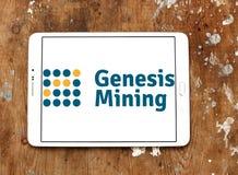 Logo della società di estrazione mineraria della nuvola di Genesis Mining Immagini Stock