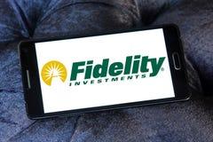 Logo della società di Fidelity Investments Fotografia Stock