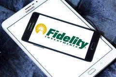 Logo della società di Fidelity Investments Immagine Stock Libera da Diritti