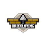 Logo della società di lavoro di muratura illustrazione vettoriale