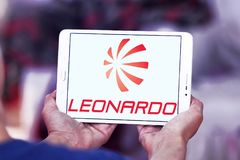 Logo della società di Leonardo Immagini Stock