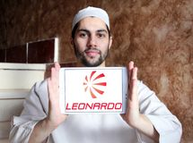 Logo della società di Leonardo Fotografia Stock