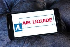 Logo della società di Liquide dell'aria Fotografia Stock Libera da Diritti
