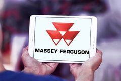 Logo della società di Massey Ferguson Fotografia Stock Libera da Diritti