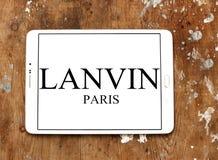 Logo della società di modo di Lanvin Immagine Stock