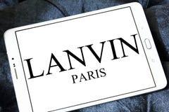 Logo della società di modo di Lanvin Fotografie Stock