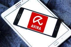 Logo della società di operazioni di Avira immagini stock libere da diritti