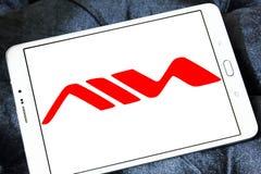 Logo della società di prodotti elettronici di consumo di Aiwa Immagini Stock Libere da Diritti