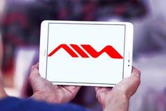 Logo della società di prodotti elettronici di consumo di Aiwa Fotografia Stock Libera da Diritti