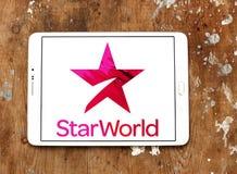 Logo della società di radiodiffusione del mondo della STELLA Fotografia Stock