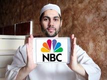 Logo della società di radiodiffusione di NBC Fotografia Stock