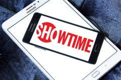Logo della società di radiodiffusione di Showtime Immagine Stock