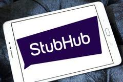Logo della società di scambio del biglietto di StubHub Fotografie Stock Libere da Diritti