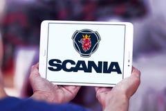 Logo della società di Scania Fotografia Stock