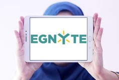 Logo della società di tecnologia di Egnyte immagini stock libere da diritti